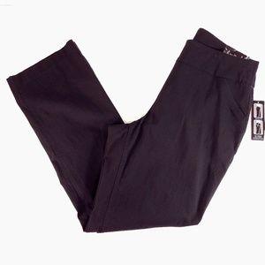 KIM ROGERS Black Boot Cut Pants Stretch 16W Avg